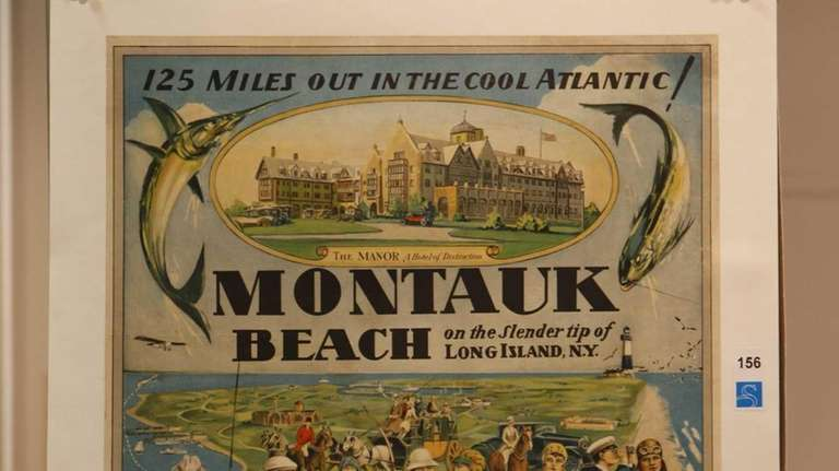 A 1920s poster promoting the Montauk Manor at