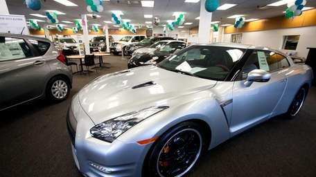 A Nissan GT-R 2014 edition displayed in a