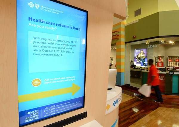 A screen at the BlueCross BlueShield of North
