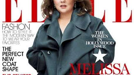 Elle magazine with actress Melissa McCarthy on the