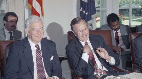 Former House Speaker Tom Foley of Washington sits
