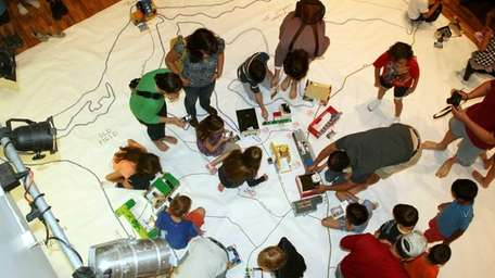 Participants at the 2012 Lego Workshop at the