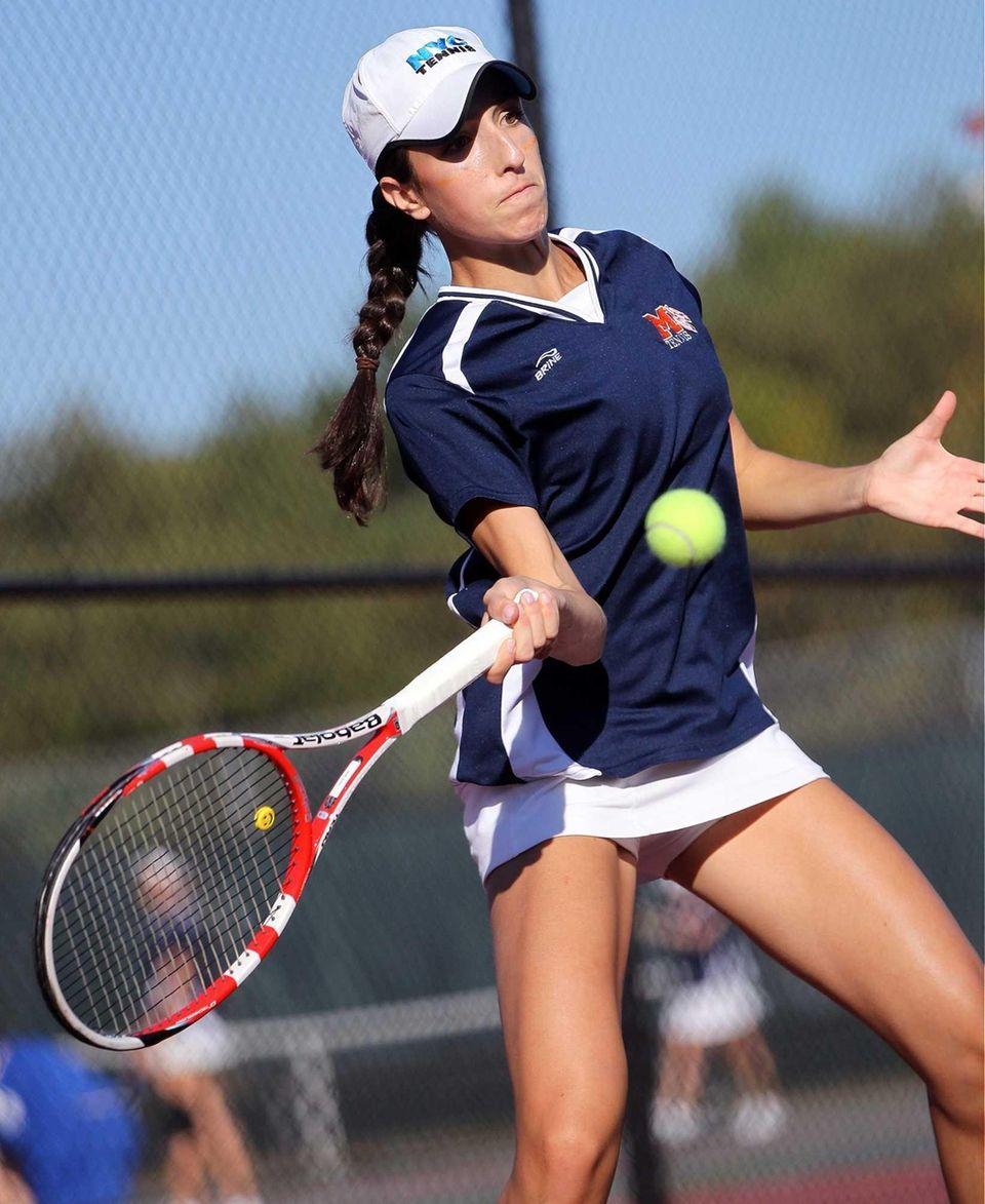 Manhasset's Nicole Koskovolin during her game against Ally