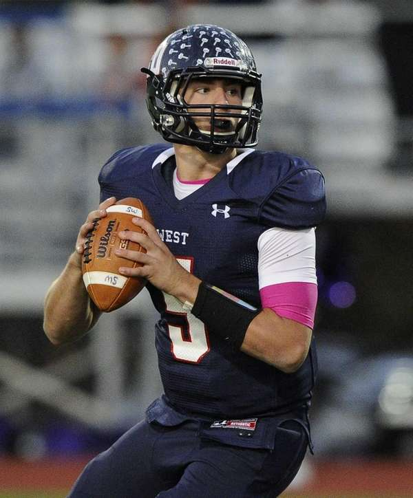 Smithtown West Matthew Heldberg Jr. looks to pass