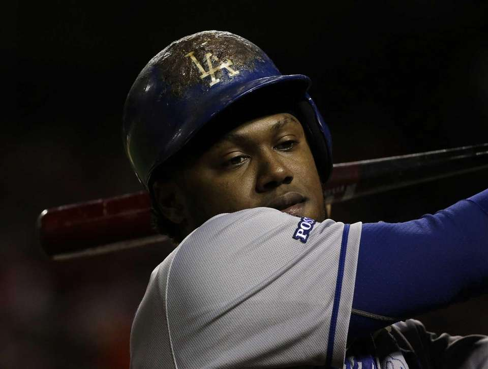 Dodgers' Hanley Ramirez gets ready to bat during