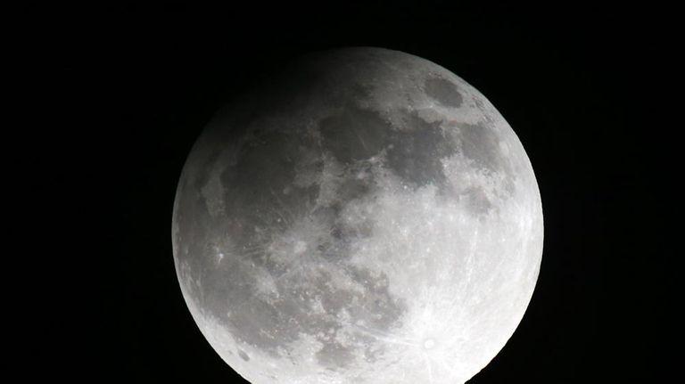The moon seen from the Belarusian capital Minsk,
