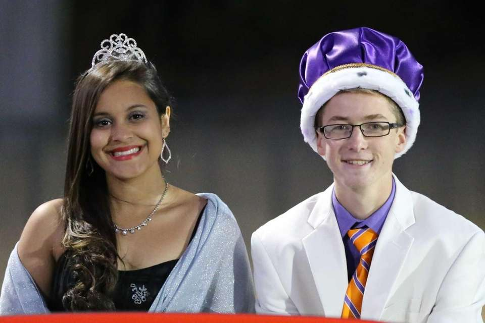 Greenport homecoming queen and king Anna Costa and