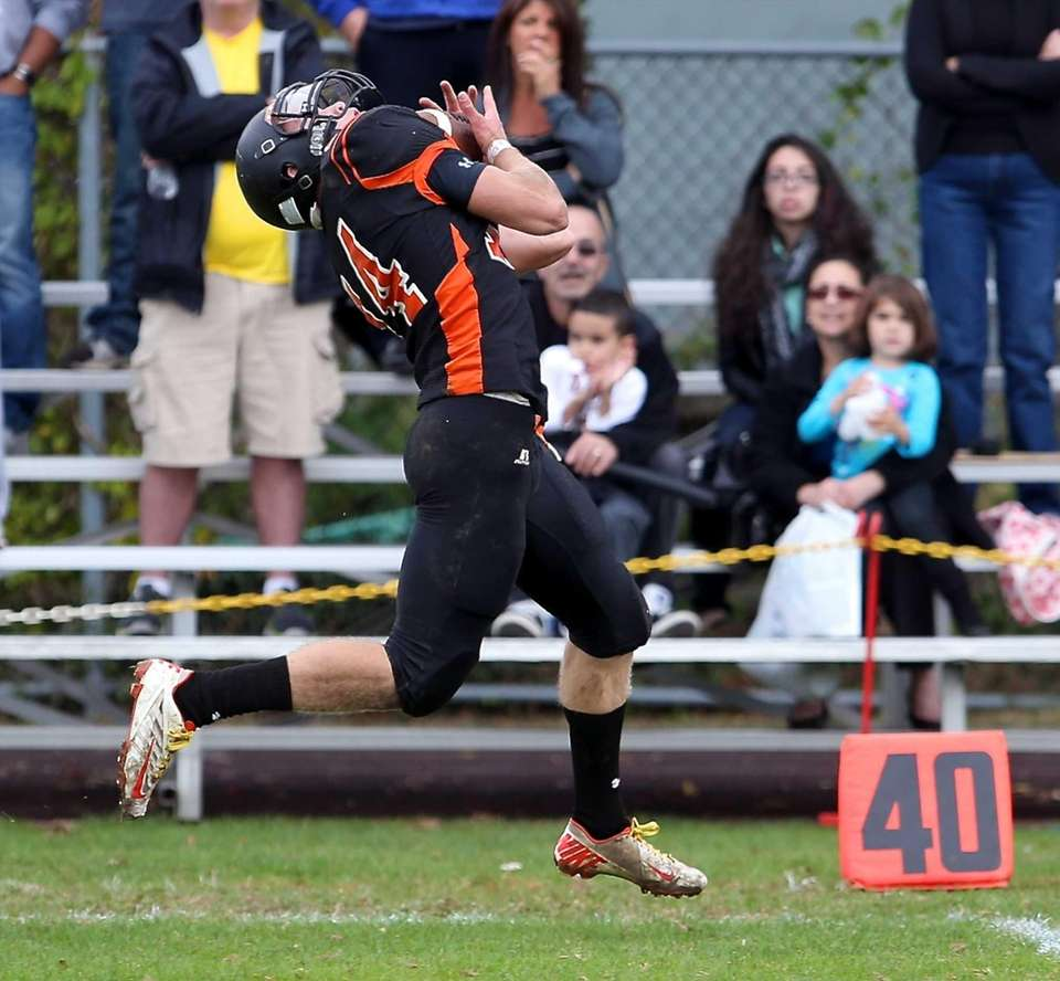 Babylon WR Jake Carlock makes the grab on