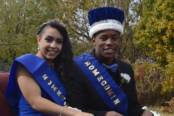 Homecoming queen Mariah Tavares, 17, and king Cho