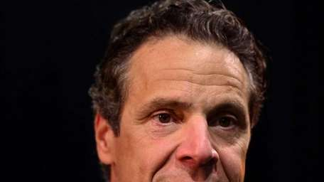 Gov. Andrew Cuomo speaks at a press conference