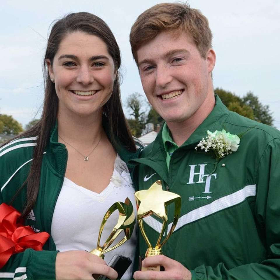 Seniors Bernadette Mullane, of Bellmore, and Jonathan Trencheny,