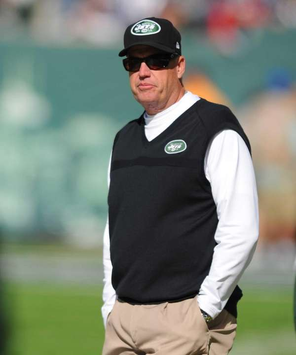 Rex Ryan looks on before a game against
