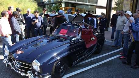 A 1957 Mercedes-Benz 300SL owned by Nat Lanza