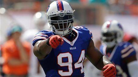 Buffalo Bills defensive end Mario Williams (94) gestures