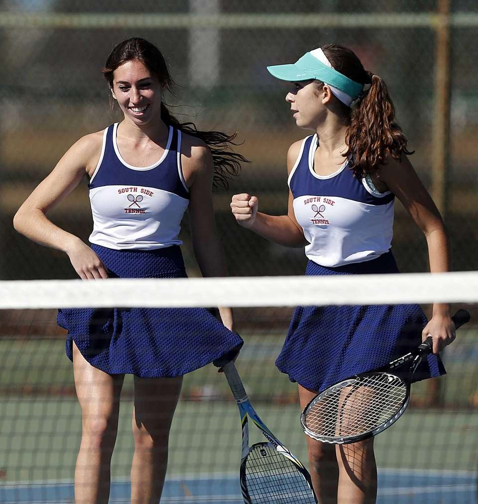 South Side's Nikki Huhulea (left) and Suzanne Silechhia
