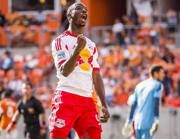 New York Red Bulls forward Bradley Wright-Phillips celebrates