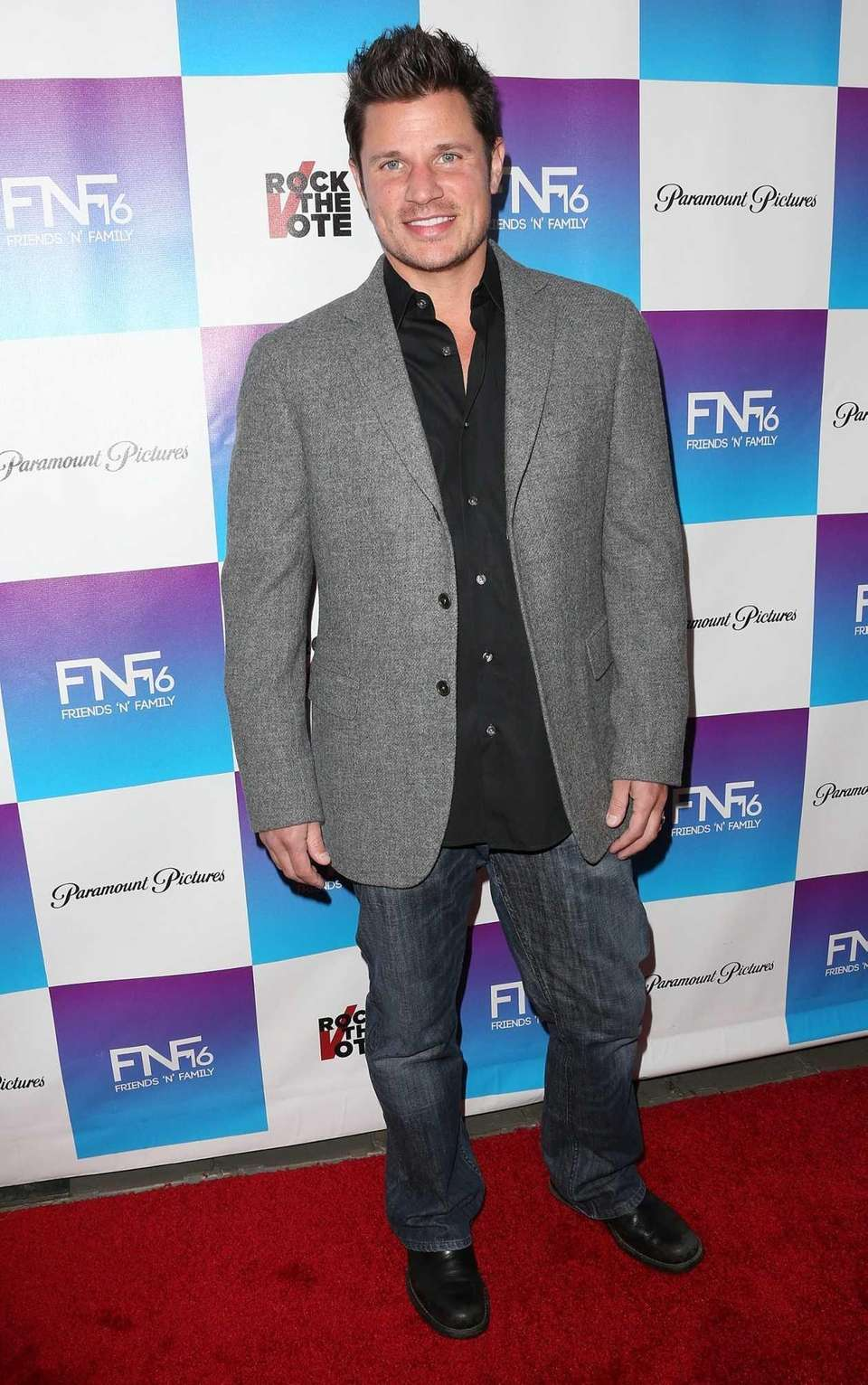 Singer Nick Lachey, born on Nov. 9, 1973.