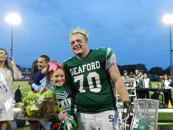 Seaford High School seniors Cynthia Nieman and James