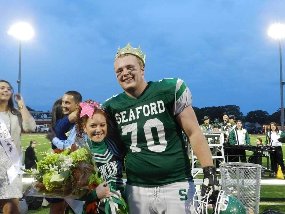 Seaford High School seniors Cynthia Nieman and James