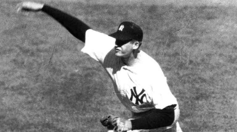 Yankees' pitcher Don Larsen recorded the only no-hitter