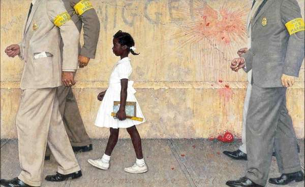 Norman Rockwell depicted the history-changing walk by the