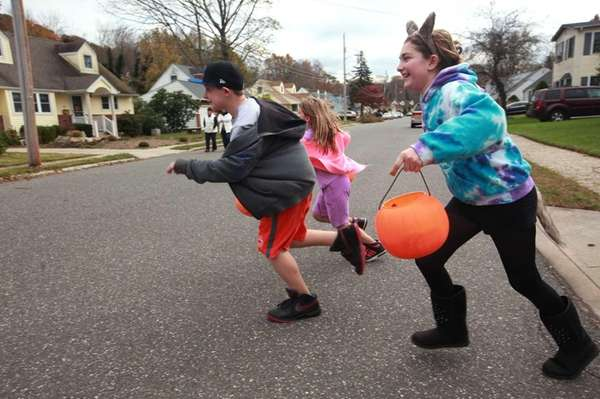 Children trick-or-treating in Smithtown. (Oct. 31, 2012)