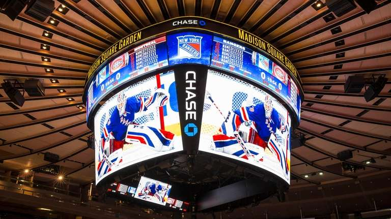 Madison Square Garden revealed a new scoreboard as