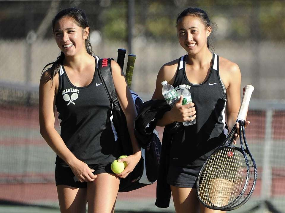 Half Hollow Hills East's doubles team of Ali