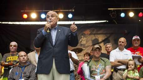 Former New York City Mayor Rudy Giuliani speaks