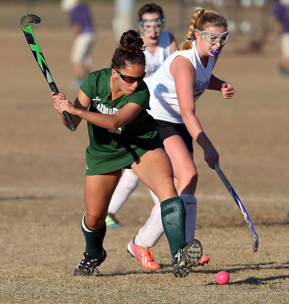 Harborfields' Nicole Bifulco winds up to shoot as