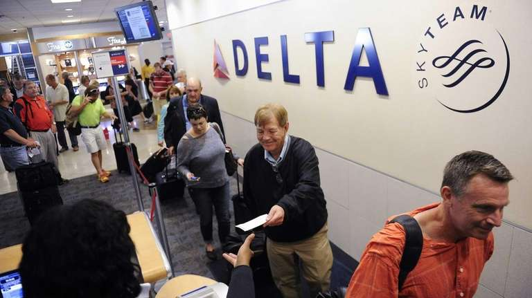 Delta Air Lines passengers take advantage of priority