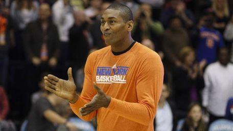 New York Knicks small forward Metta World Peace