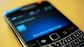 A BlackBerry smartphone displaces the