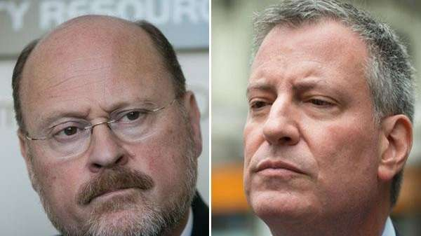 Mayoral candidates Joe Lhota and Bill de Blasio.