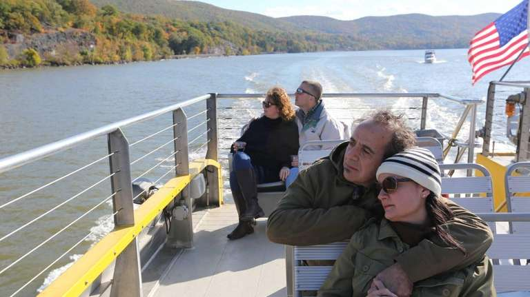 Couples Dennis and Jeni Espantman, foreground, and Anna