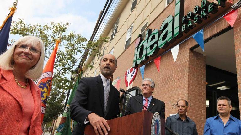 Nassau County Legislator Robert Troiano speaks during the