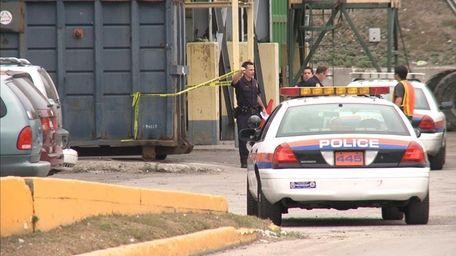 Nassau County Police investigate the scene of remains