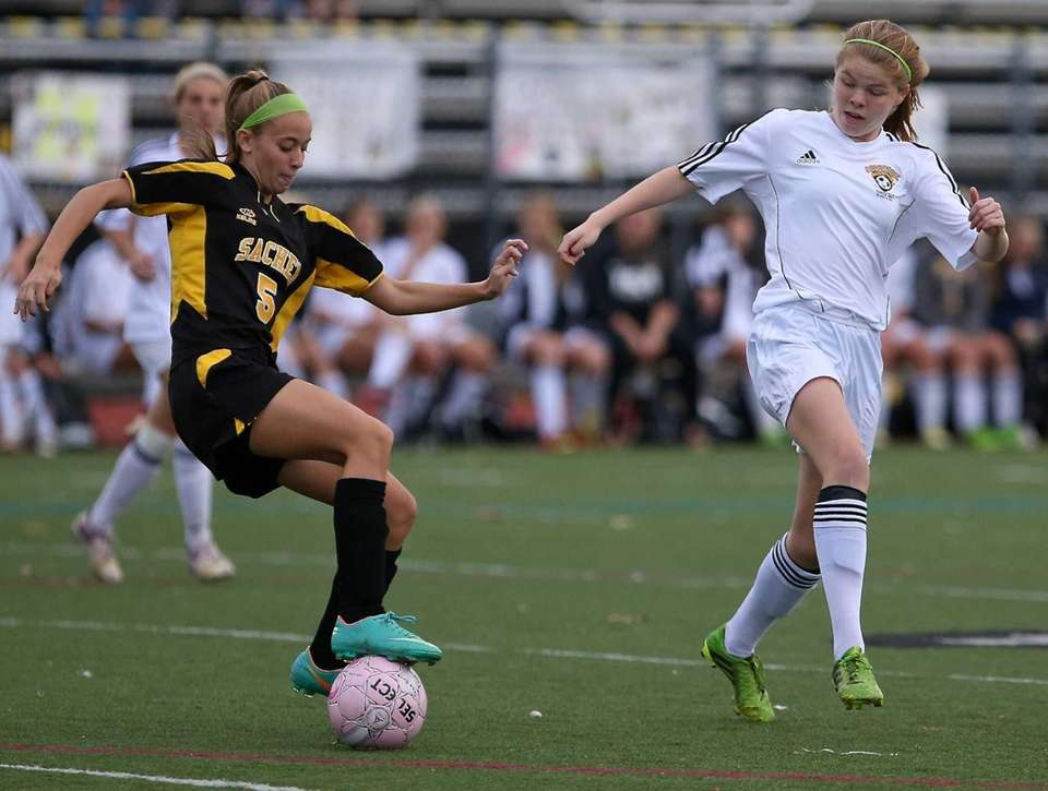 Sachem North's Alexa Punzone looks to get by