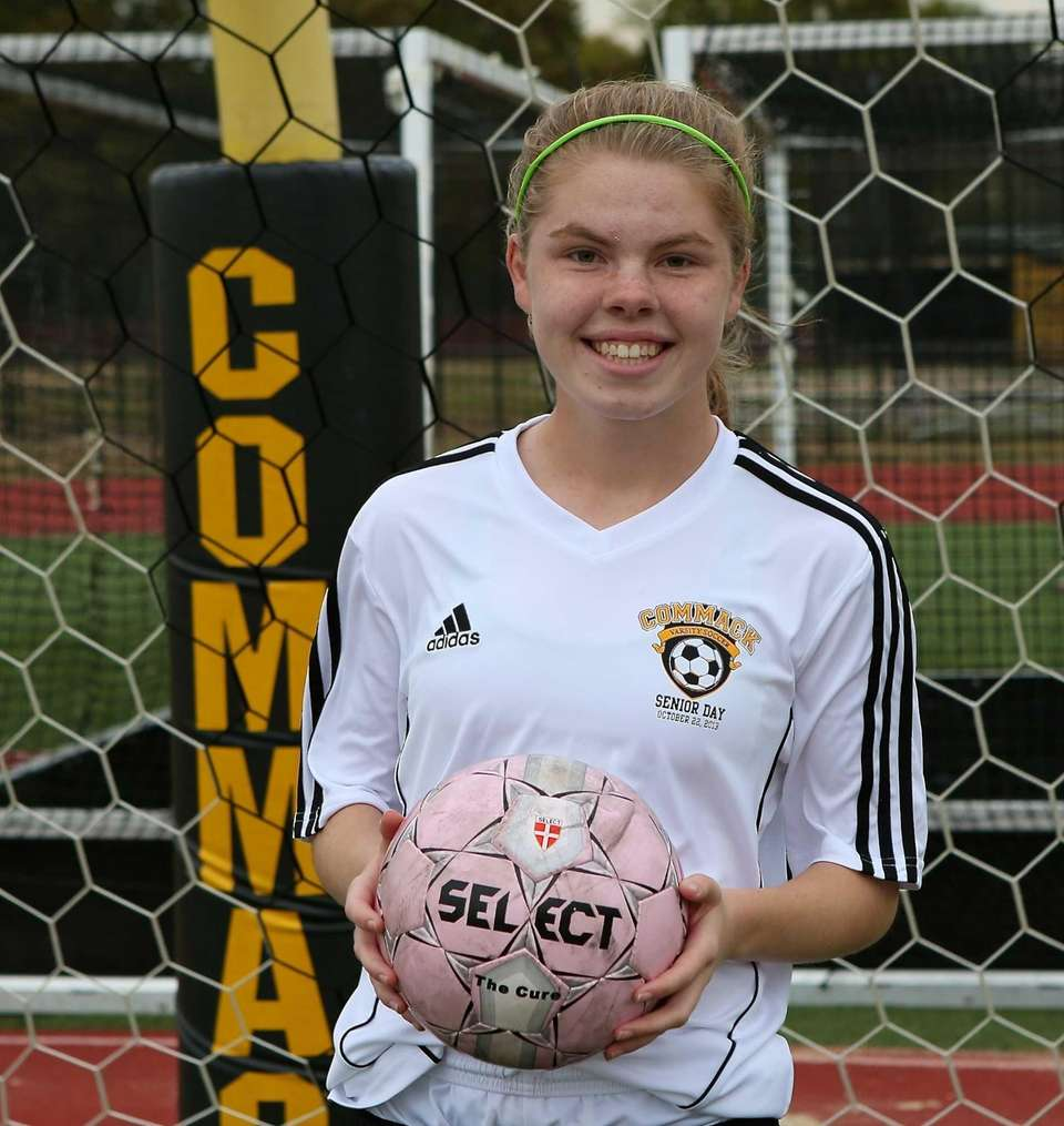 Commack midfielder Erin Neville. (Oct. 22, 2013)