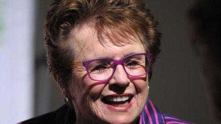Women's Sports Foundation founder Billie Jean King speaks