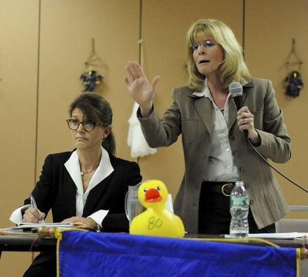 (L-R) Southhampton candidates for Supervisor Anna Throne-Holst and
