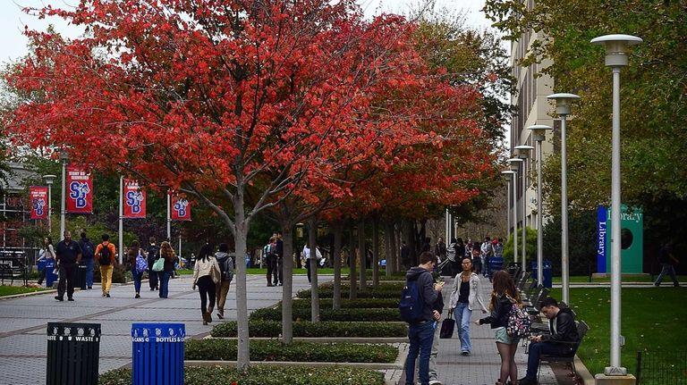 The campus of Stony Brook University University.