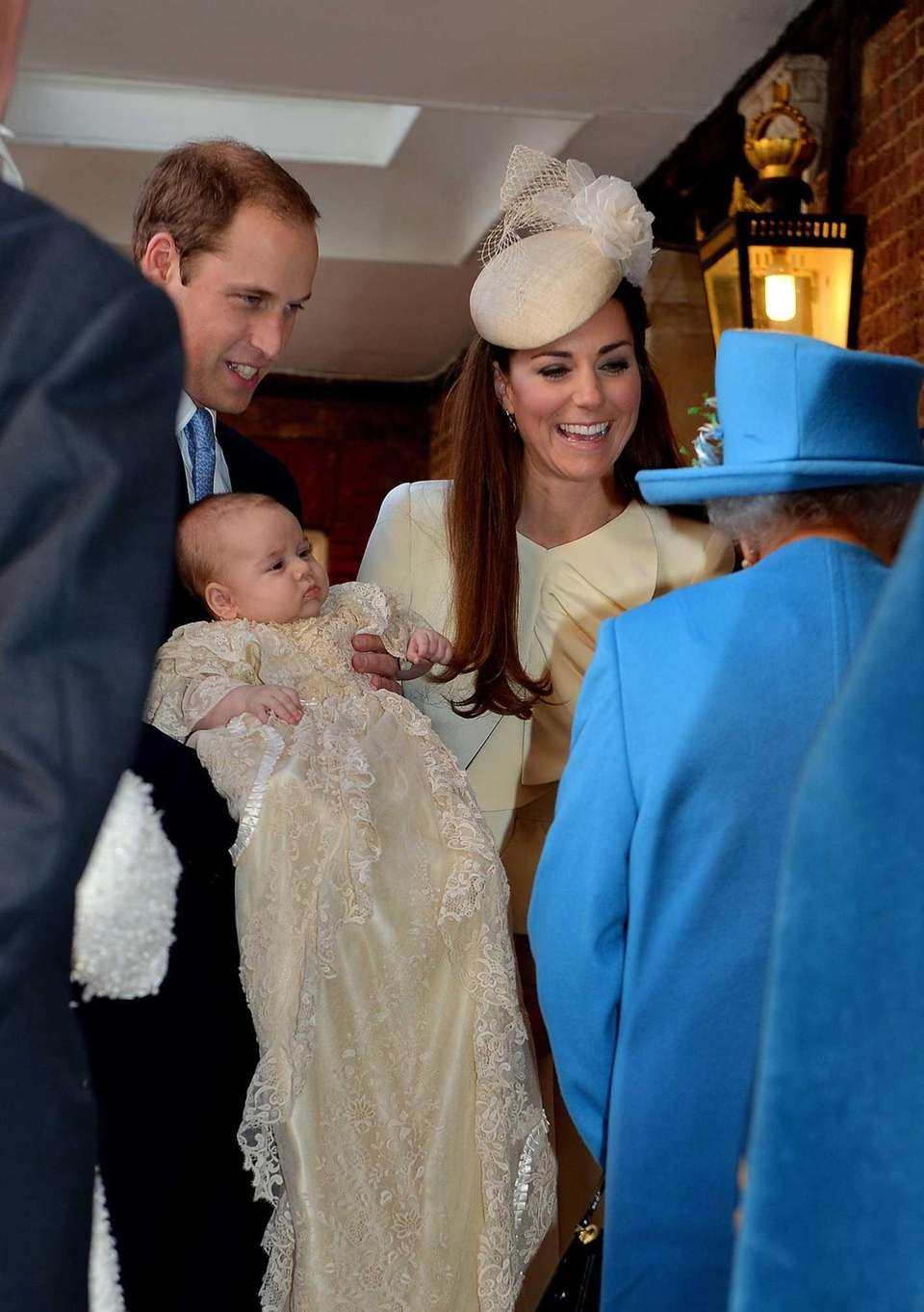 Prince William and Kate talk to Queen Elizabeth