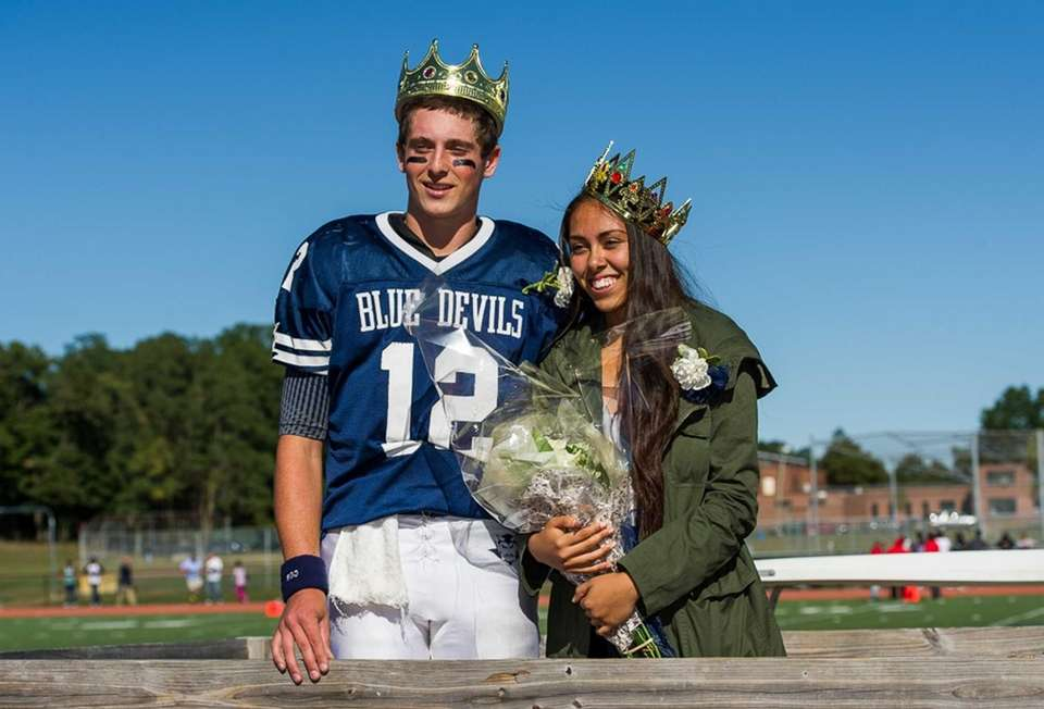 Huntington High School homecoming king and queen Ben