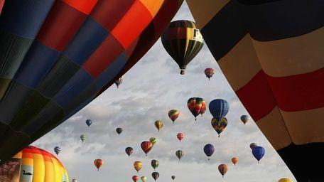 Hot air balloons soar over Balloon Fiesta Park