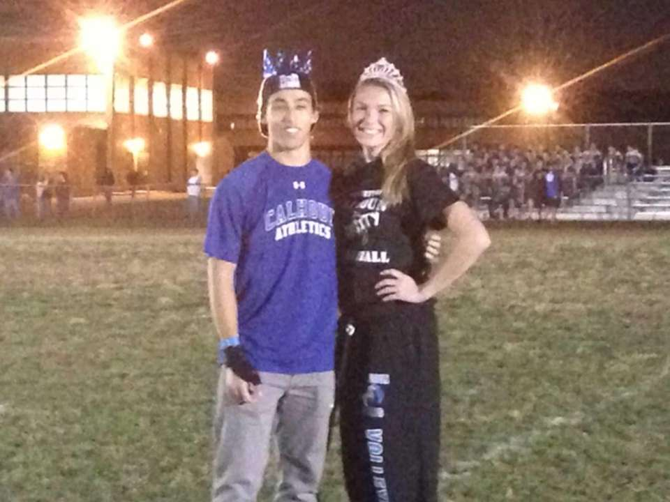 Landon Cooper and Jenny McElwain were crowned homecoming
