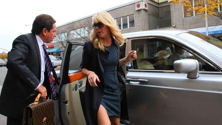 Dina Lohan arrives at Nassau County First District