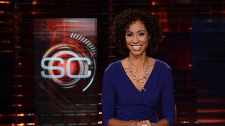 Sage Steele at the anchor desk for