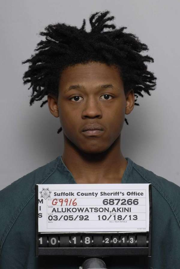Akini Alukowatson, 21, of Wyandanch, has been arrested