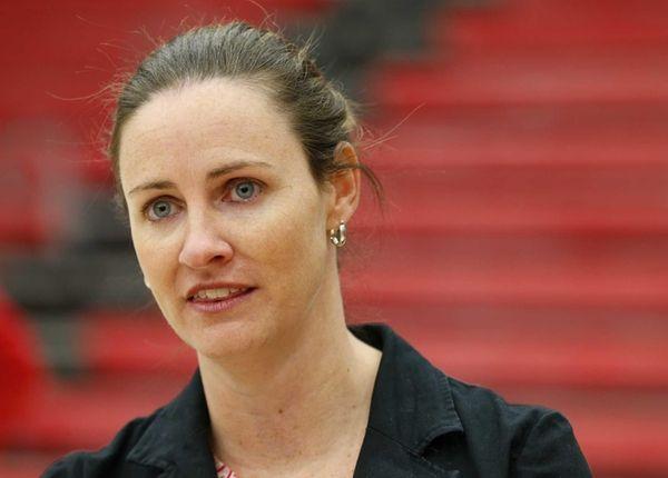 Women's basketball head coach Beth O'Boyle of the